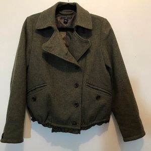 Gap 100% Wool Jacket in Olive Green- Size Small